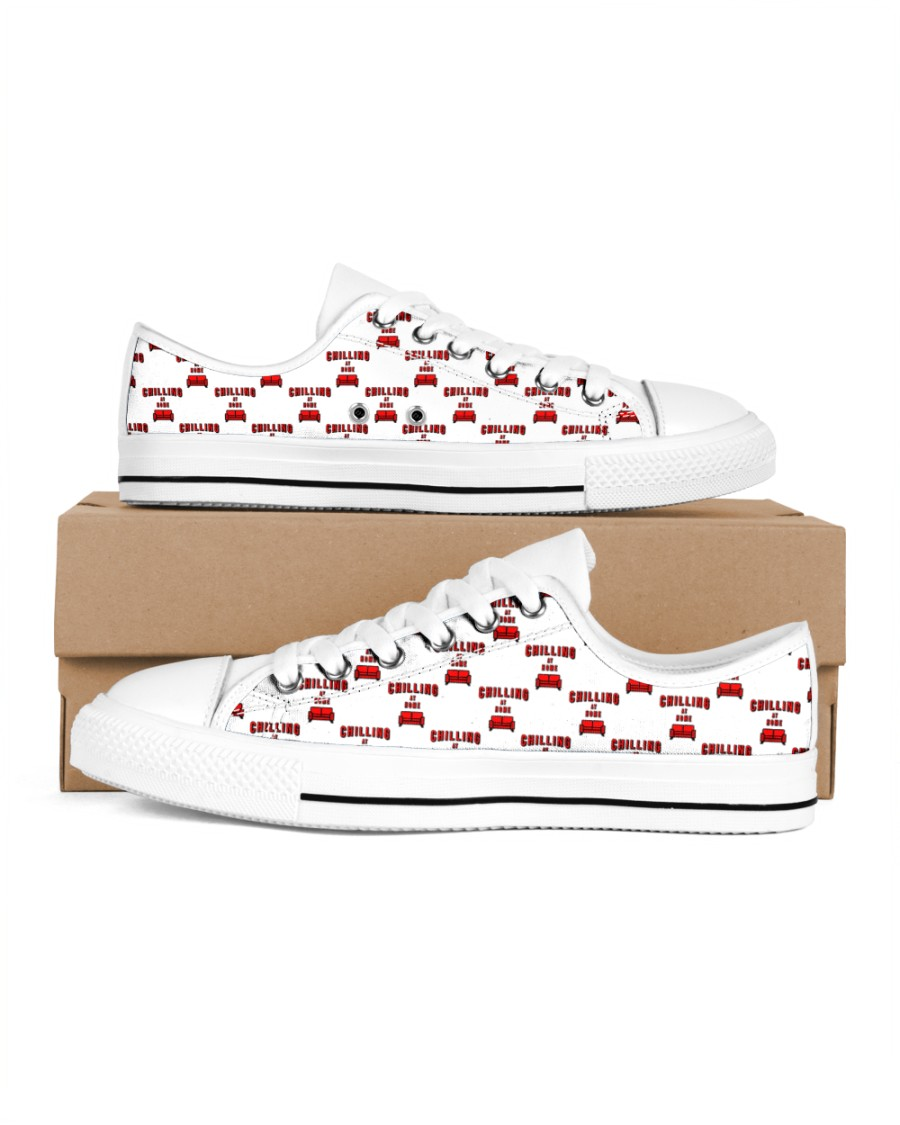 Chilling at Home Women's Low Top White Shoes