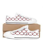 Chilling at Home Women's Low Top White Shoes inside-right-outside-right