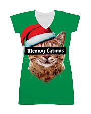 The big Meowy Catmas All-over Dress thumbnail