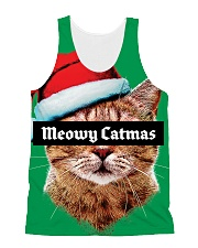 The big Meowy Catmas All-over Unisex Tank thumbnail