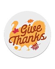 Give Thanks Circle Coaster thumbnail