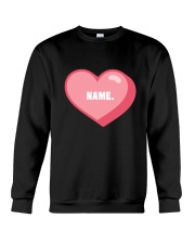 Pink heart personalized Crewneck Sweatshirt front