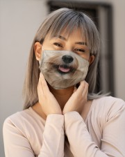 Havanese dog face Cloth face mask aos-face-mask-lifestyle-17