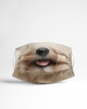 Havanese dog face Cloth face mask aos-face-mask-lifestyle-22