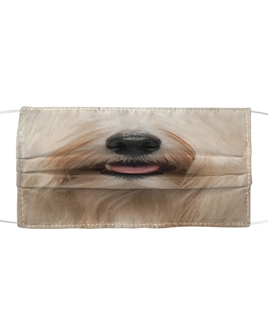Havanese dog face Cloth face mask