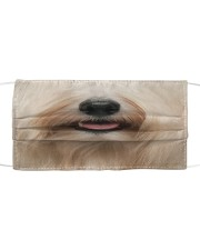 Havanese dog face Cloth face mask front