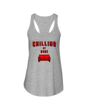 Chilling at Home Ladies Flowy Tank tile