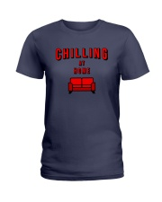 Chilling at Home Ladies T-Shirt tile