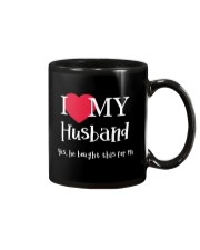 I Love My Husband - Yes He Bought This For Me Mug tile