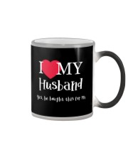 I Love My Husband - Yes He Bought This For Me Color Changing Mug tile