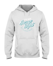 Not Always Right Hooded Sweatshirt thumbnail