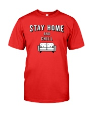 Stay at Home - Red Version Premium Fit Mens Tee thumbnail
