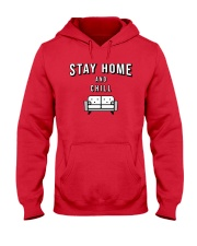 Stay at Home - Red Version Hooded Sweatshirt thumbnail