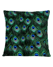 Peacock Square Pillowcase back