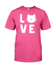 Cat Love Classic T-Shirt front