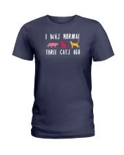 I Was Normal Three Cats Ago Ladies T-Shirt thumbnail