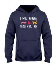 I Was Normal Three Cats Ago Hooded Sweatshirt thumbnail