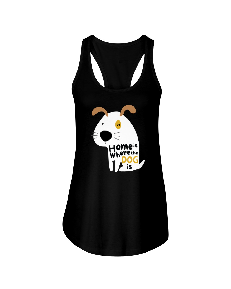 Home is Where the Dog is Ladies Flowy Tank