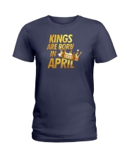 Kings Are Born in April Ladies T-Shirt thumbnail