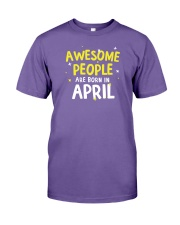 Awesome People Are Born In April Premium Fit Mens Tee thumbnail