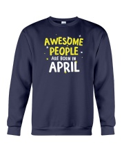 Awesome People Are Born In April Crewneck Sweatshirt thumbnail