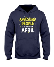 Awesome People Are Born In April Hooded Sweatshirt thumbnail