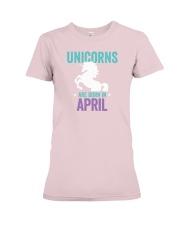 Unicorns Are Born in April Premium Fit Ladies Tee thumbnail