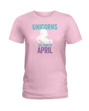 Unicorns Are Born in April Ladies T-Shirt thumbnail