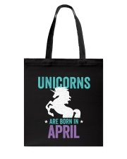 Unicorns Are Born in April Tote Bag thumbnail