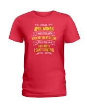 I'm a April Woman Ladies T-Shirt thumbnail