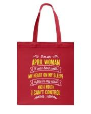 I'm a April Woman Tote Bag thumbnail