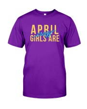 April Girls are Crazy Classic T-Shirt front