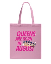 Queens Are Born in August Tote Bag thumbnail