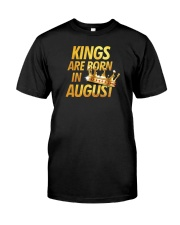 Kings Are Born in August Classic T-Shirt front