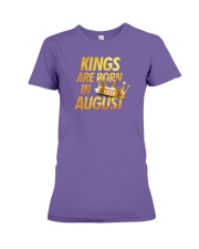 Kings Are Born in August Premium Fit Ladies Tee thumbnail