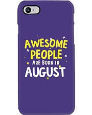 Awesome People Are Born In August Phone Case tile
