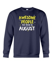 Awesome People Are Born In August Crewneck Sweatshirt thumbnail