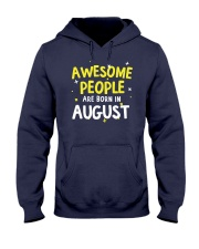 Awesome People Are Born In August Hooded Sweatshirt thumbnail
