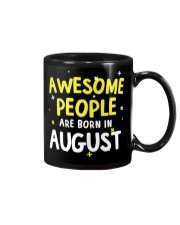 Awesome People Are Born In August Mug tile