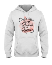 Don't Mess With an August Queen Hooded Sweatshirt thumbnail