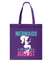 Mermaids Are Born in August Tote Bag thumbnail