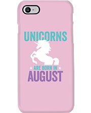 Unicorns Are Born in August Phone Case thumbnail