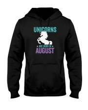 Unicorns Are Born in August Hooded Sweatshirt front
