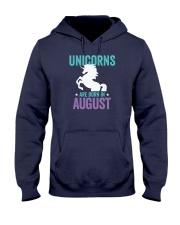 Unicorns Are Born in August Hooded Sweatshirt thumbnail
