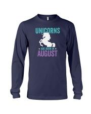 Unicorns Are Born in August Long Sleeve Tee thumbnail