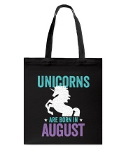 Unicorns Are Born in August Tote Bag thumbnail