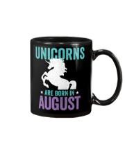 Unicorns Are Born in August Mug thumbnail