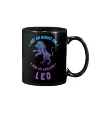 August Girl an Amazing Leo Mug front