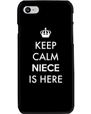 Keep Calm Niece Is Here Phone Case tile