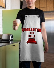 Quarantine and Chill Apron aos-apron-27x30-lifestyle-front-04